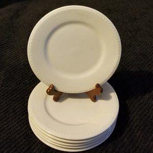 6 Farberware Trellis Basket Weave Dessert Plates